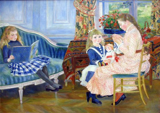 Renoir, Pierre Auguste: Children's Afternoon at Wargemont. Fine Art Print/Poster. Sizes: A4/A3/A2/A1 (004261)